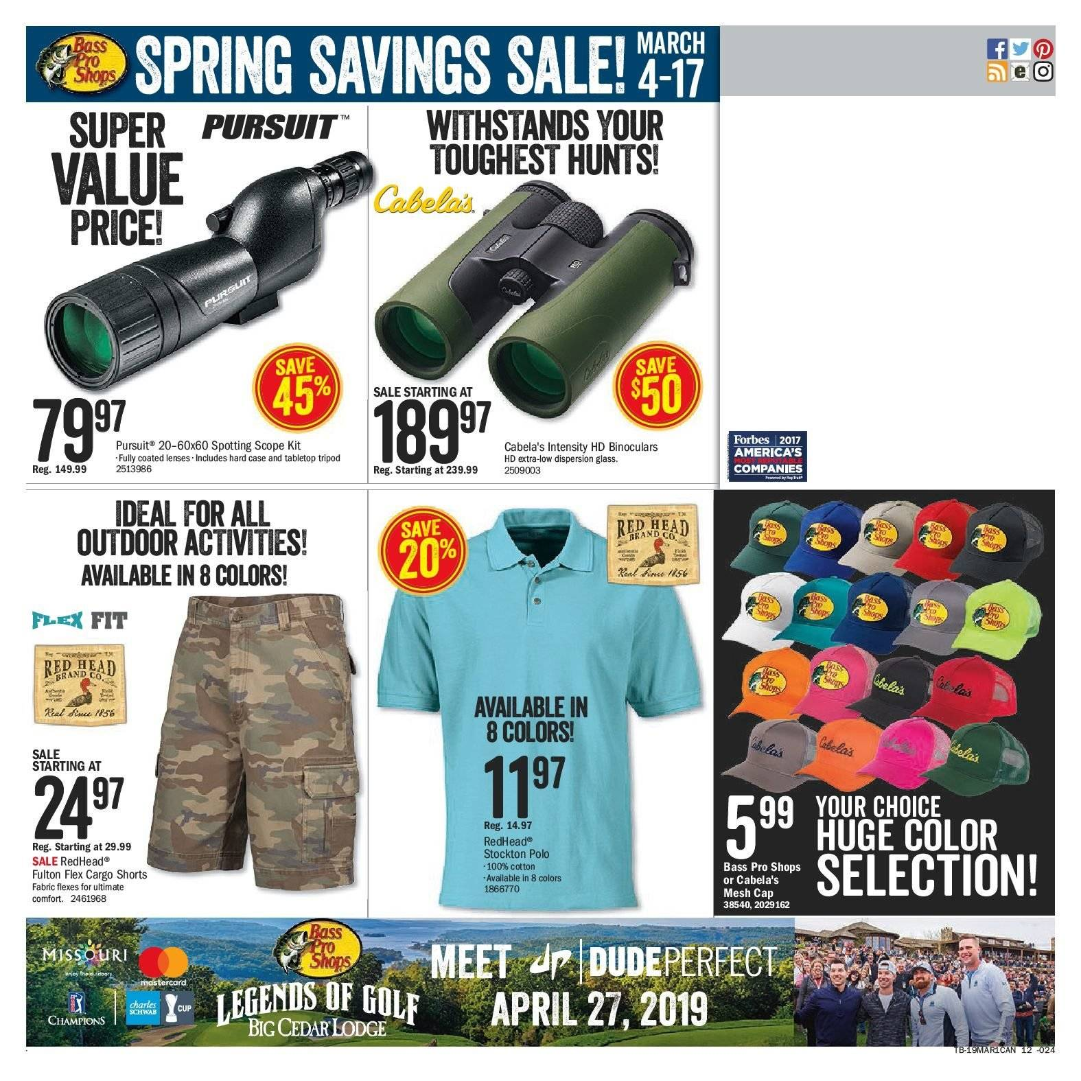 Bass Pro Shops Flyer  - March 04, 2019 - March 17, 2019. Page 12.
