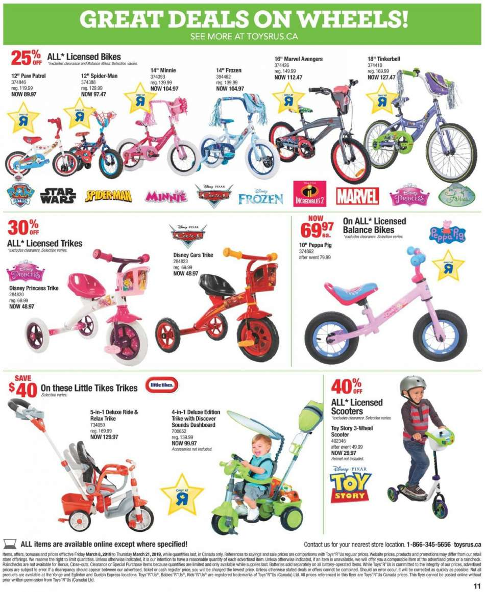 Current Toys R Us Flyer March 08 2019 March 21 2019 Ca