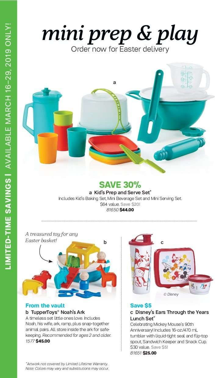 Current Tupperware flyer March 16, 2019 - April 12, 2019