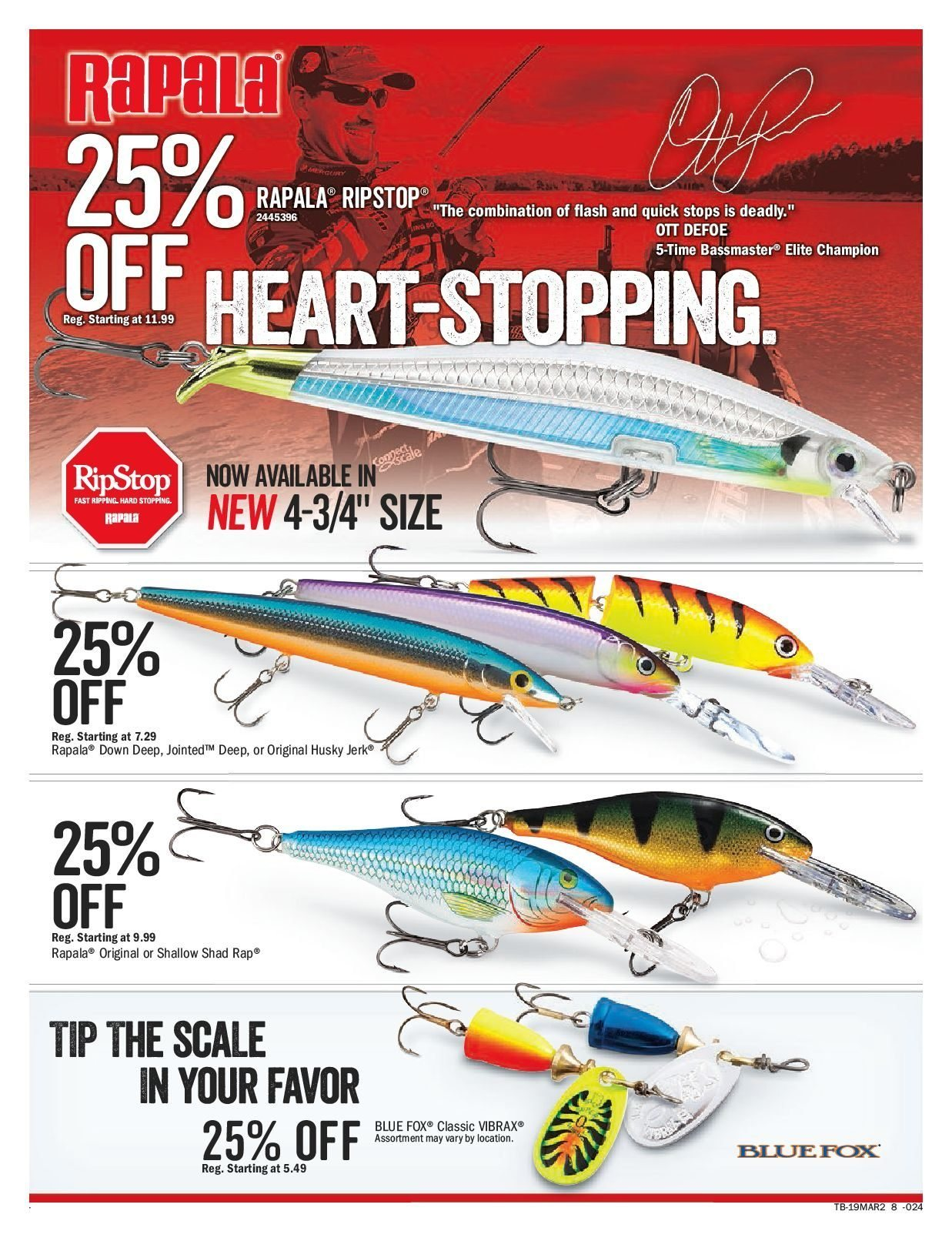 Bass Pro Shops Flyer  - March 15, 2019 - March 31, 2019. Page 8.
