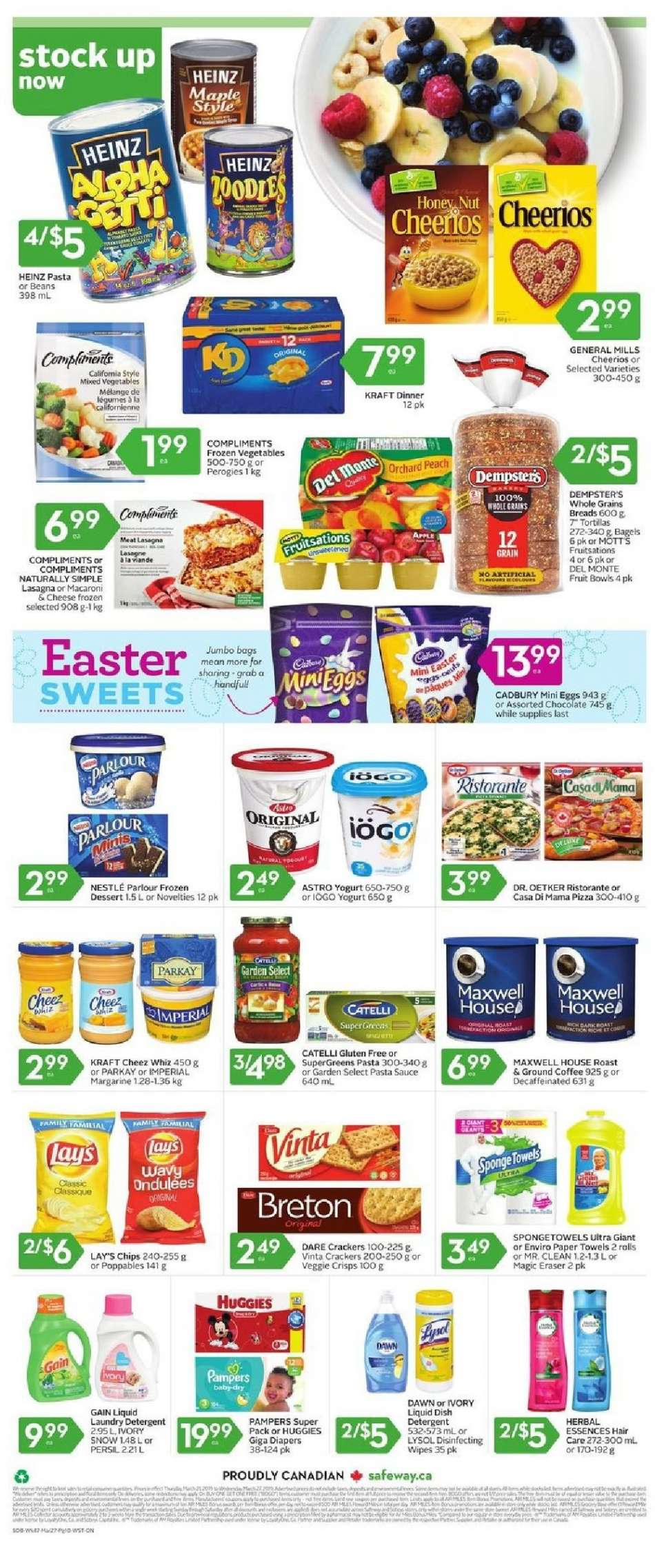 Current Safeway flyer March 21, 2019 - March 27, 2019 | Ca-flyers com