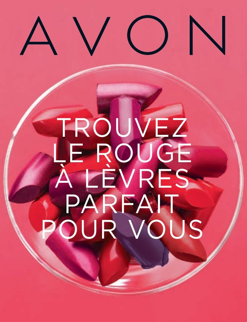Avon Flyer - Sales products - rouge. Page 1.