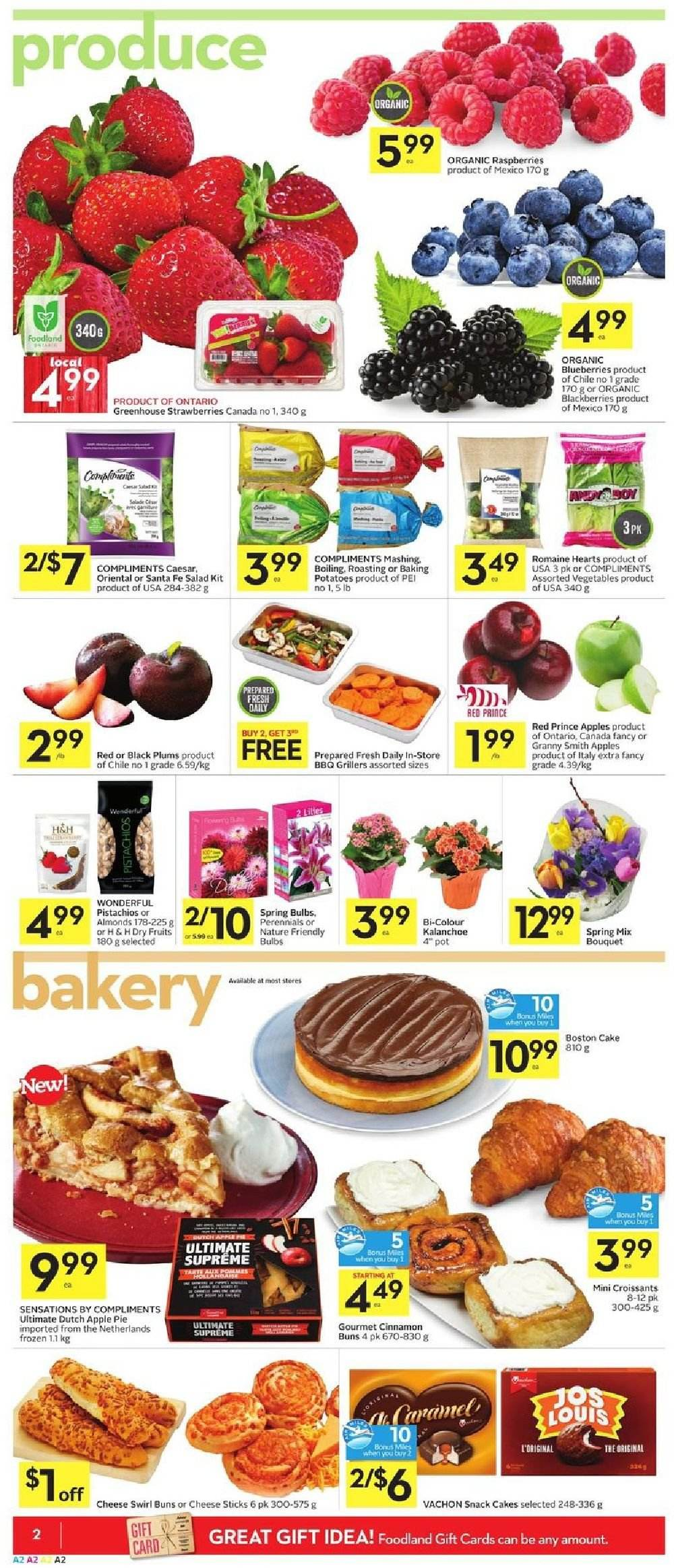 Foodland Flyer  - March 28, 2019 - April 03, 2019. Page 2.