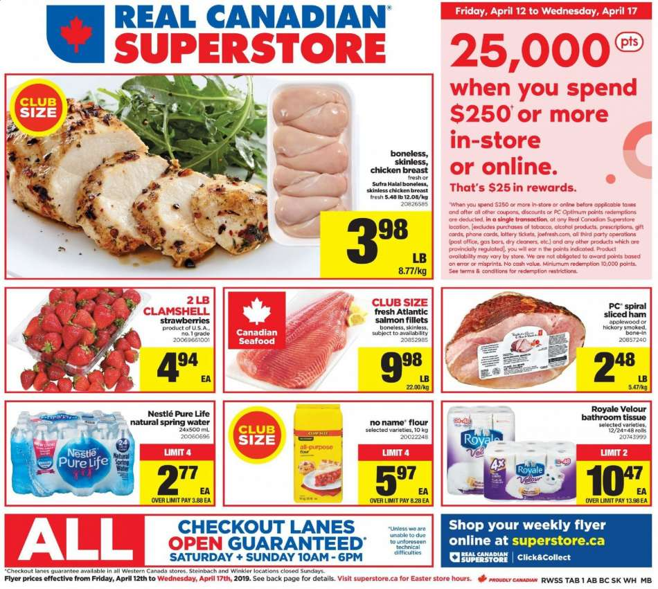 Current Real Canadian Superstore flyer April 12, 2019