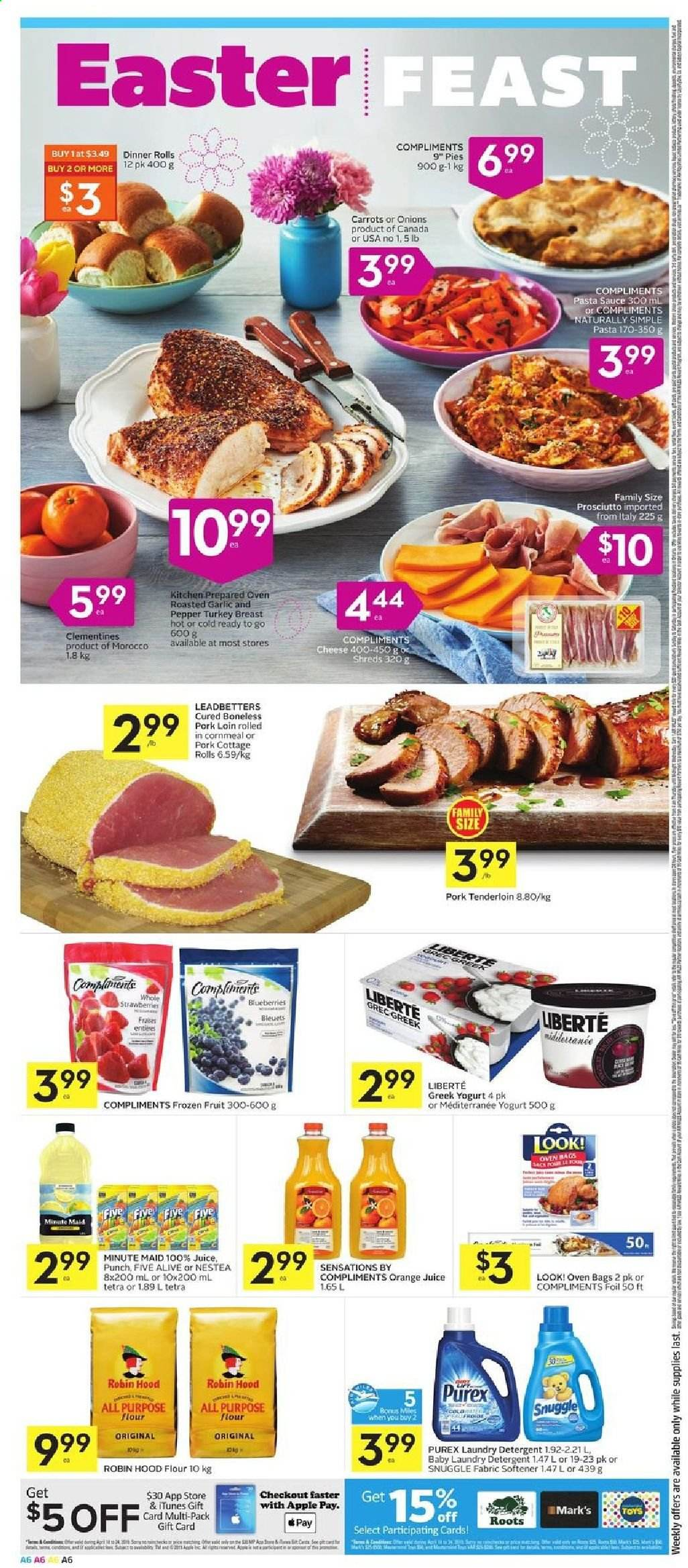 Foodland Flyer  - April 18, 2019 - April 24, 2019. Page 6.