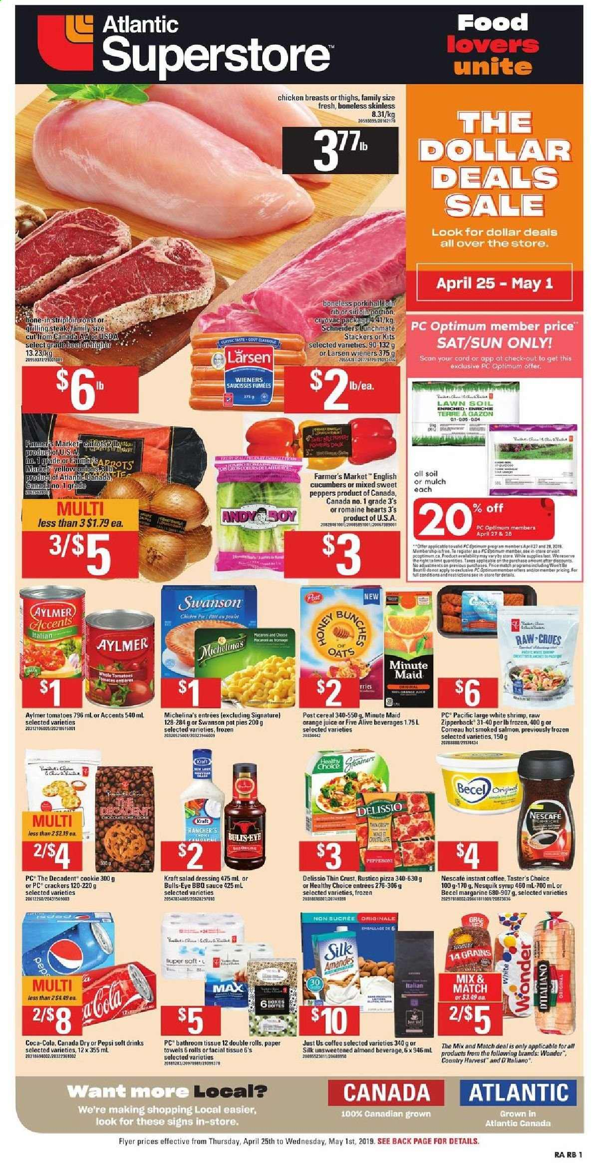 Atlantic Superstore Flyer  - April 25, 2019 - May 01, 2019. Page 1.