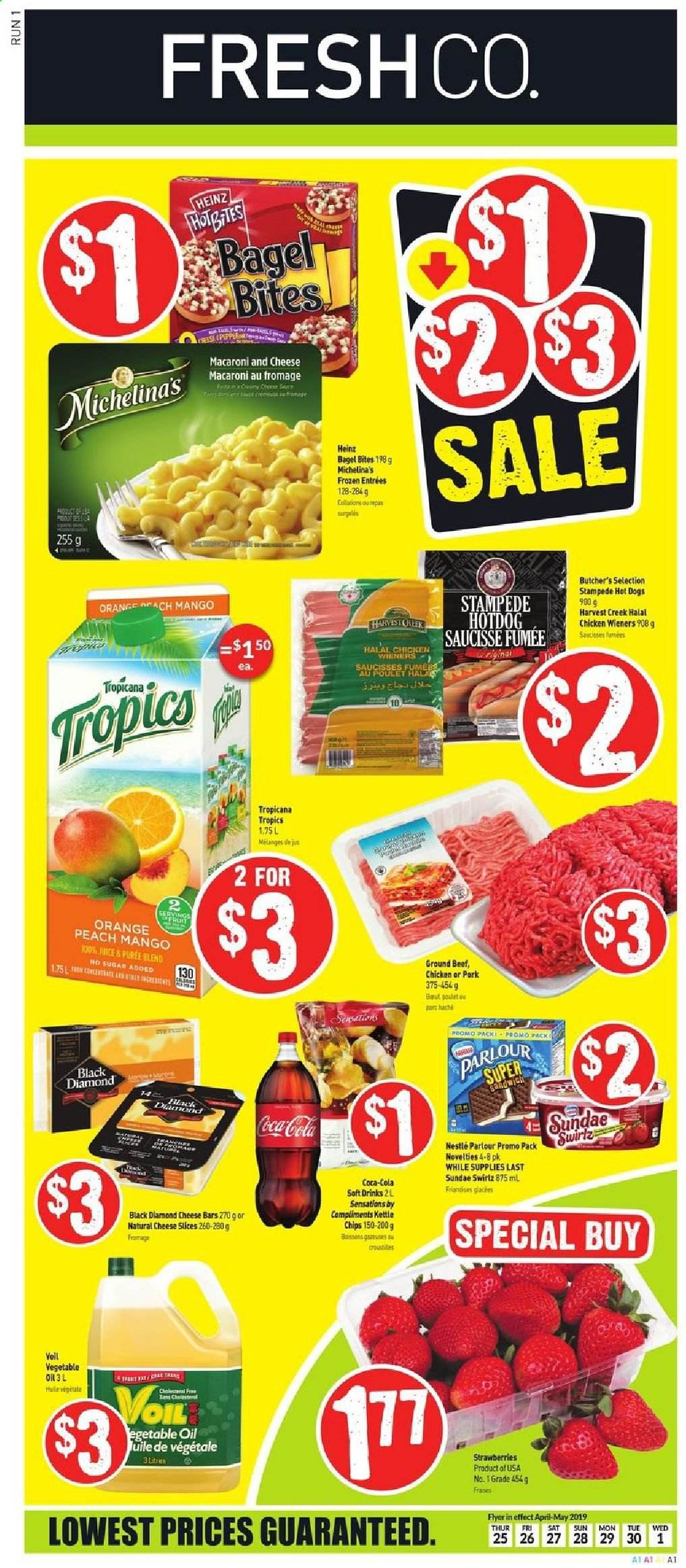 FreshCo. Flyer  - April 25, 2019 - May 01, 2019. Page 1.
