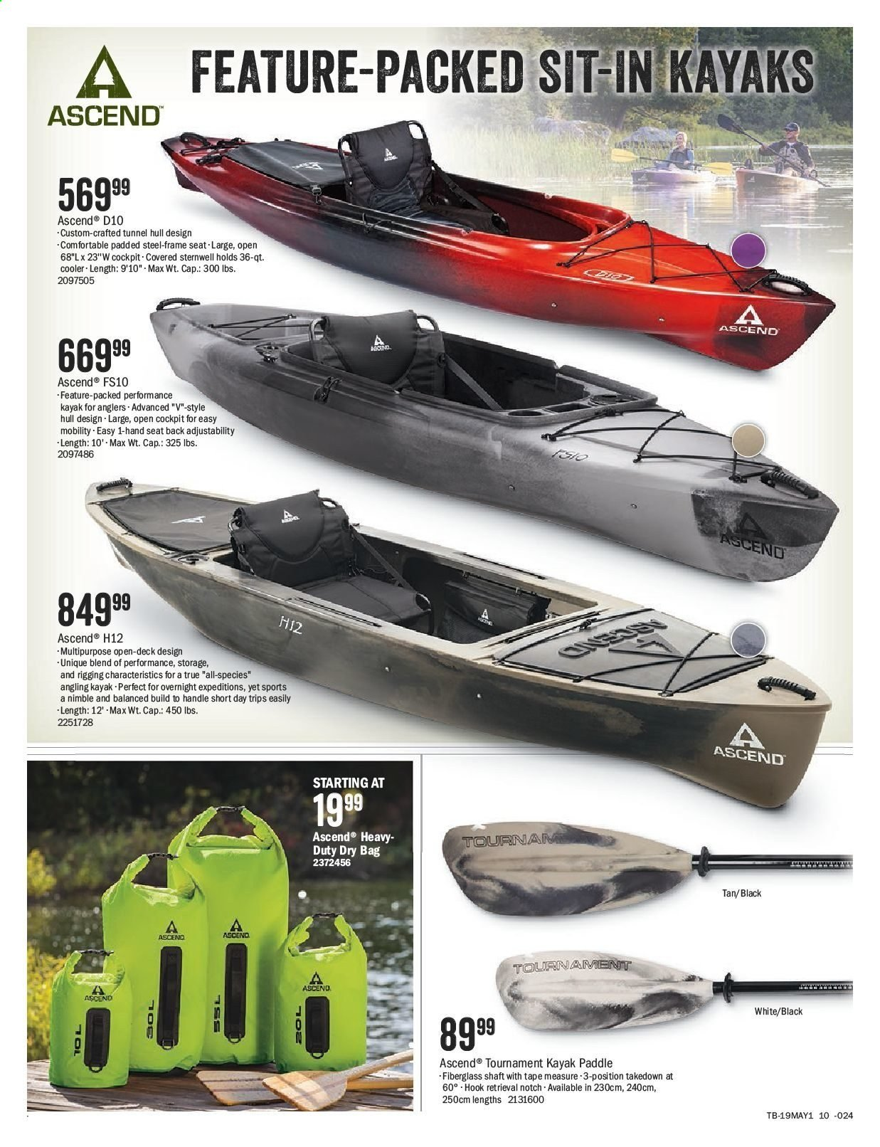 Bass Pro Shops Flyer  - April 26, 2019 - May 12, 2019. Page 10.