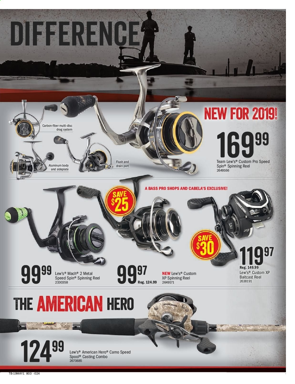 Bass Pro Shops Flyer  - April 26, 2019 - May 12, 2019. Page 15.