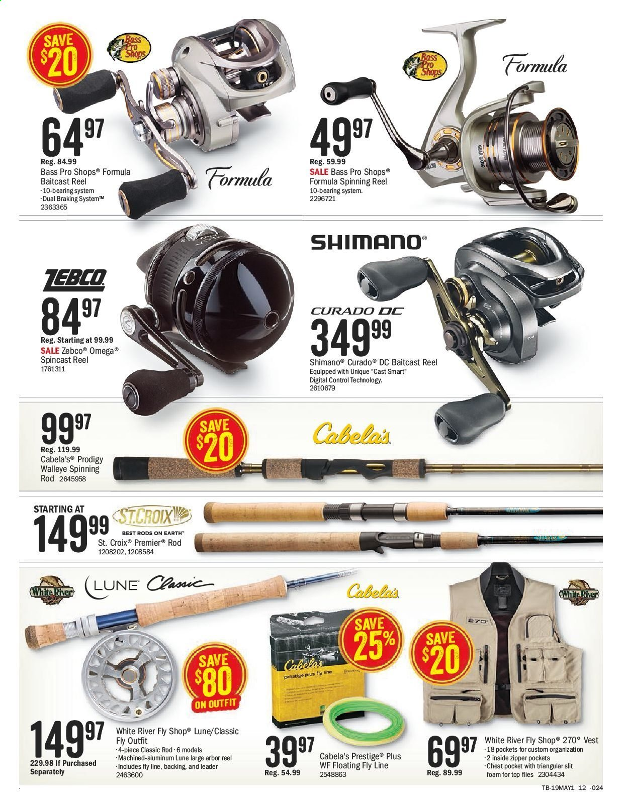 Bass Pro Shops Flyer  - April 26, 2019 - May 12, 2019. Page 16.