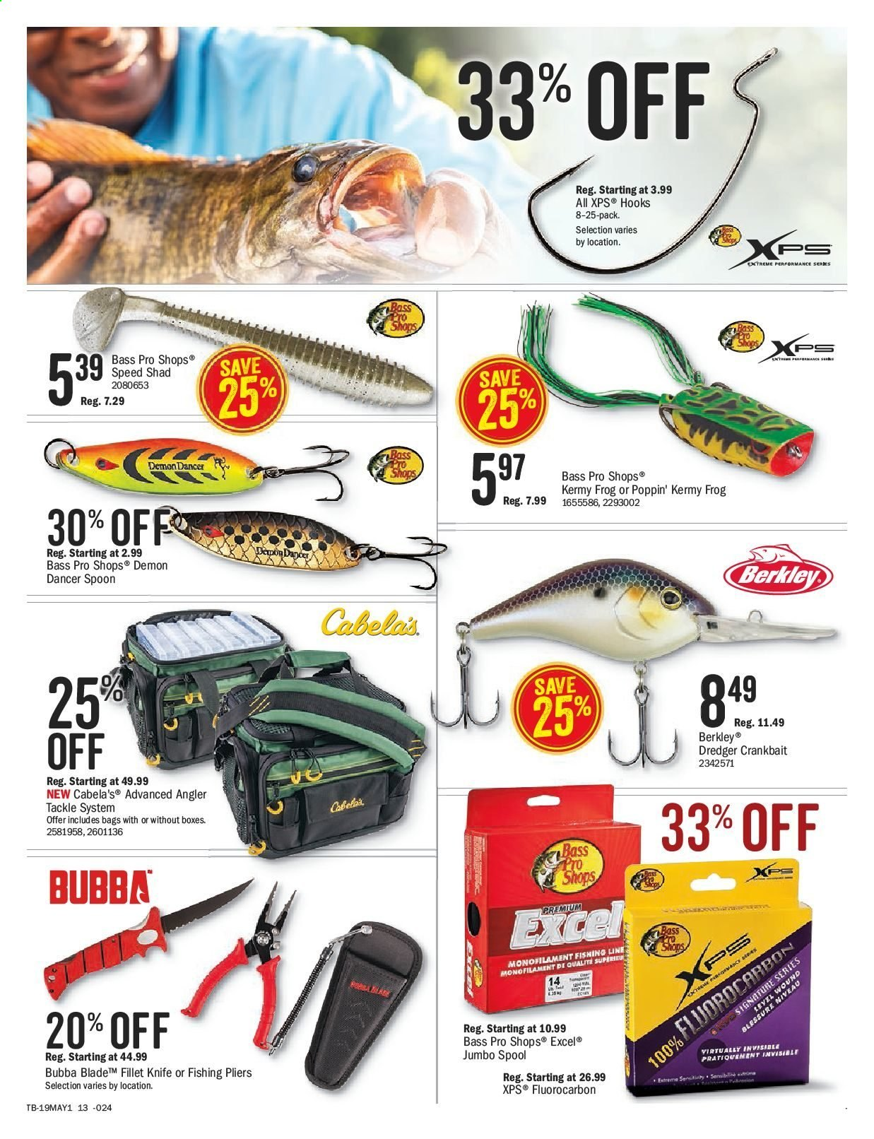Bass Pro Shops Flyer  - April 26, 2019 - May 12, 2019. Page 17.