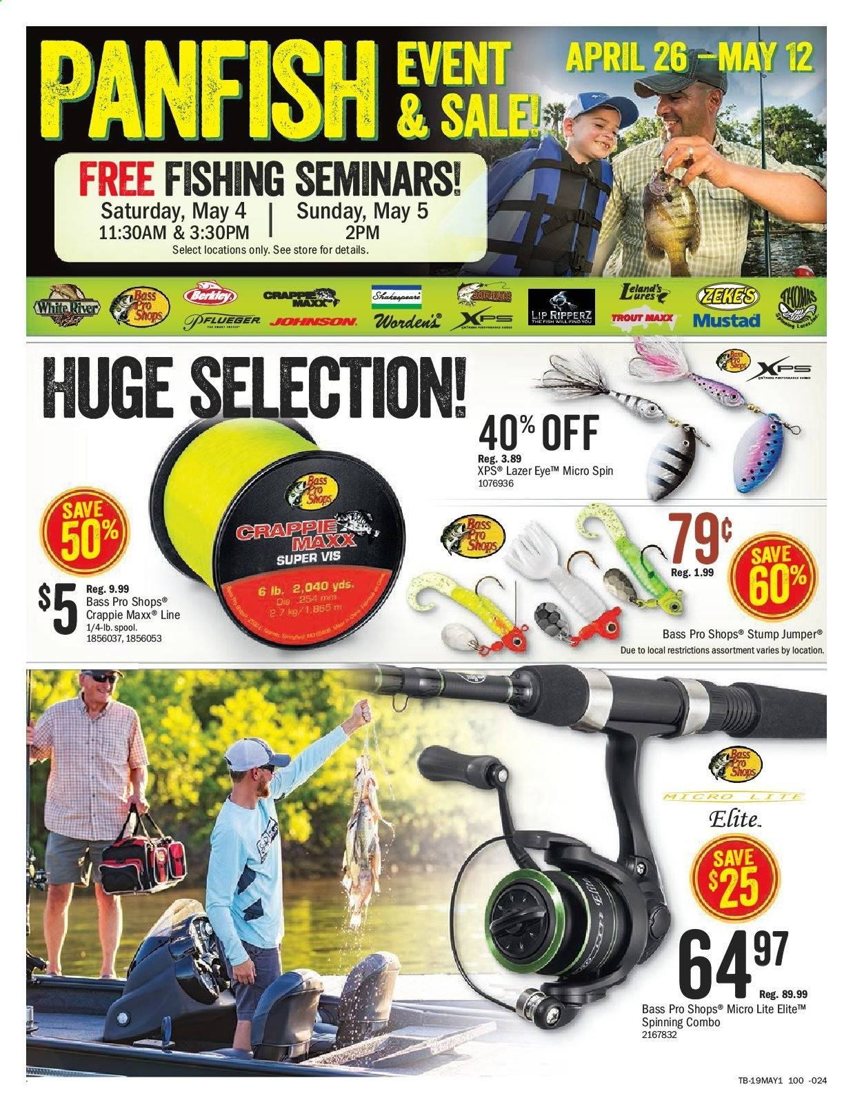 Bass Pro Shops Flyer  - April 26, 2019 - May 12, 2019. Page 18.