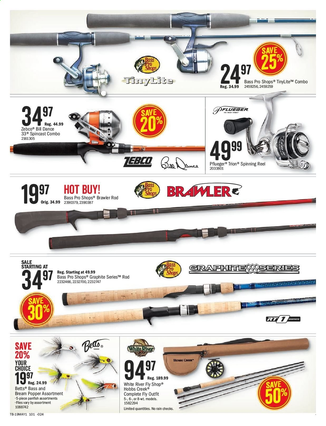 Bass Pro Shops Flyer  - April 26, 2019 - May 12, 2019. Page 19.