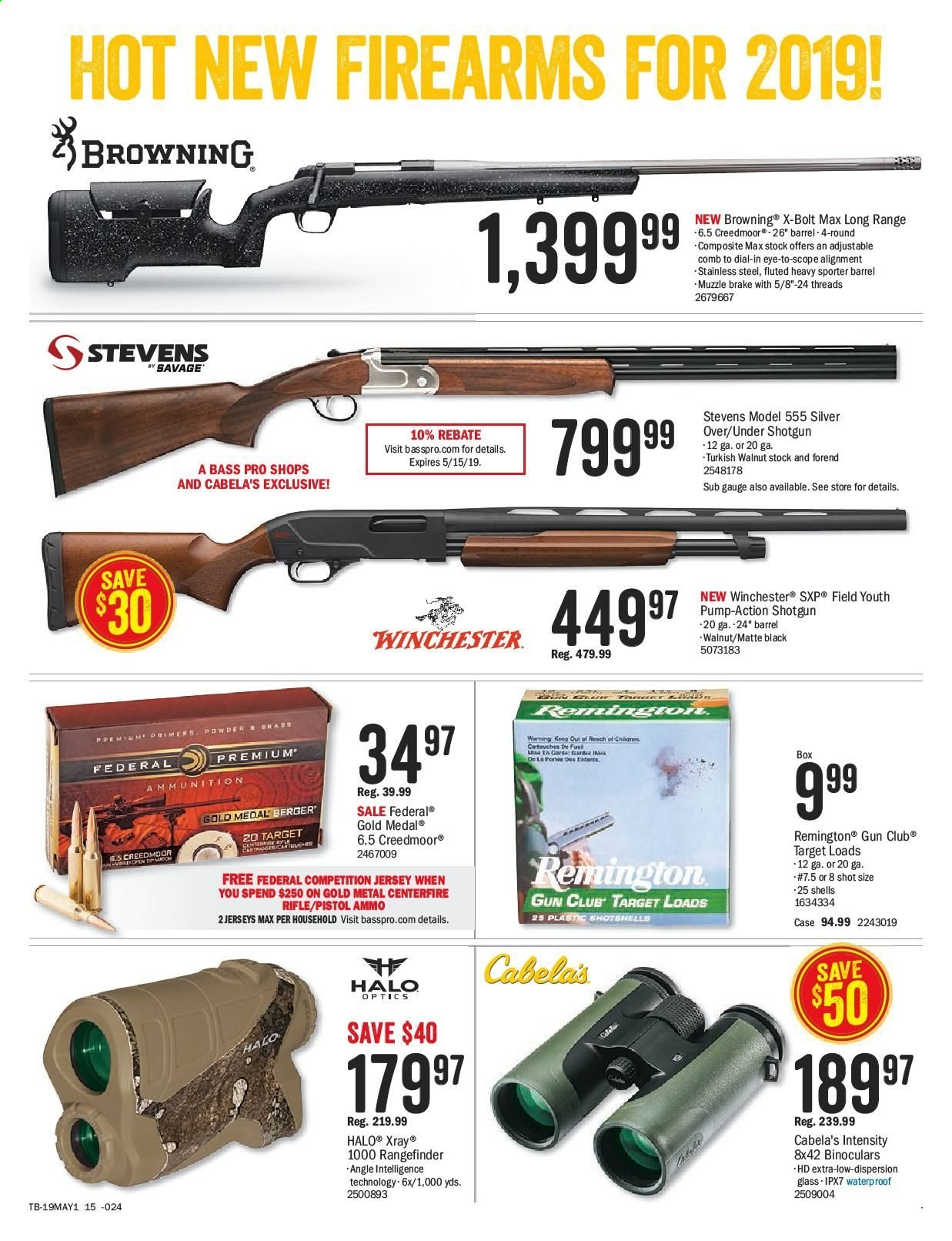 Bass Pro Shops Flyer  - April 26, 2019 - May 12, 2019. Page 23.