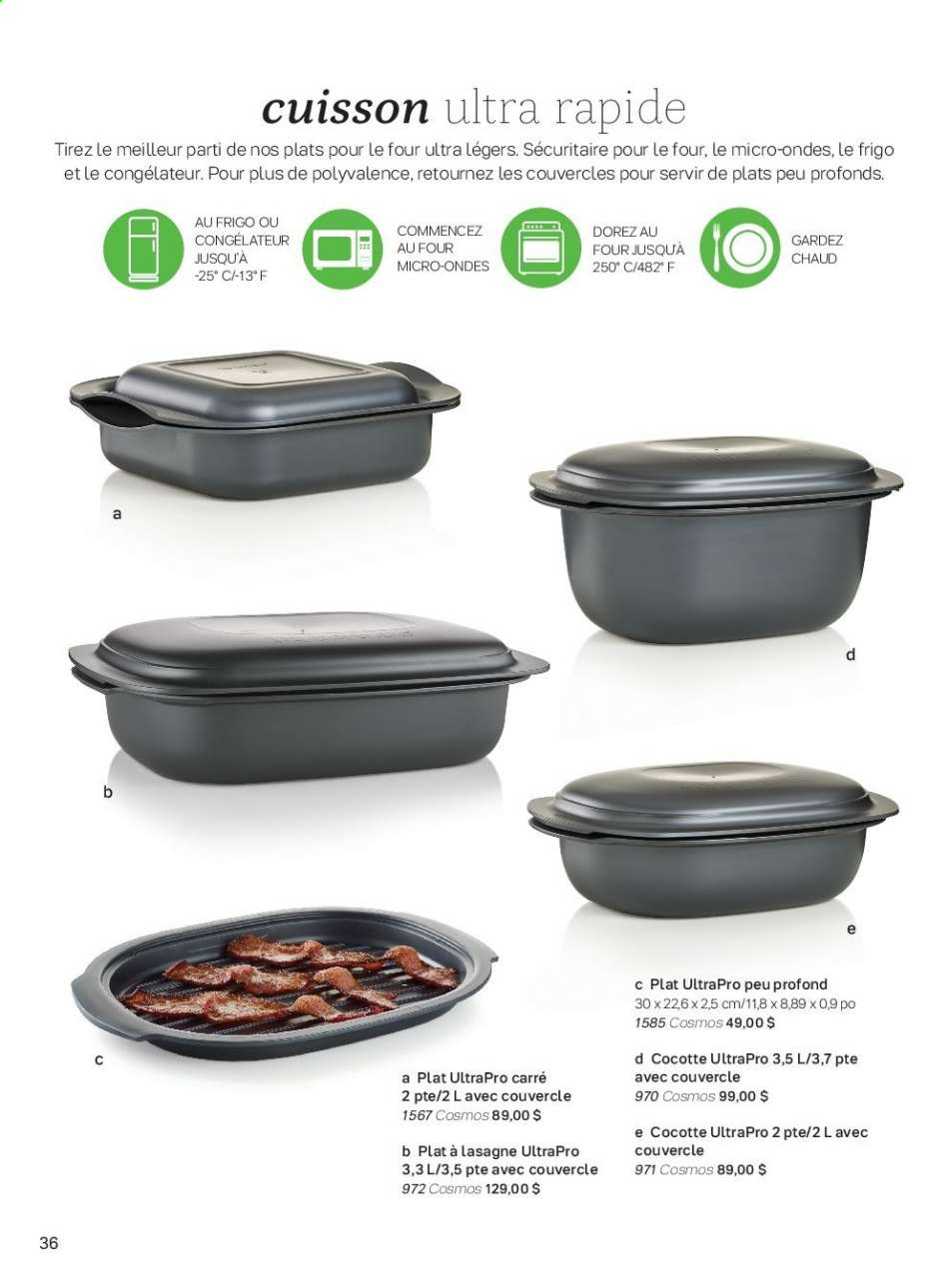 Cuisine Four Micro Onde current tupperware flyer | canadian flyers