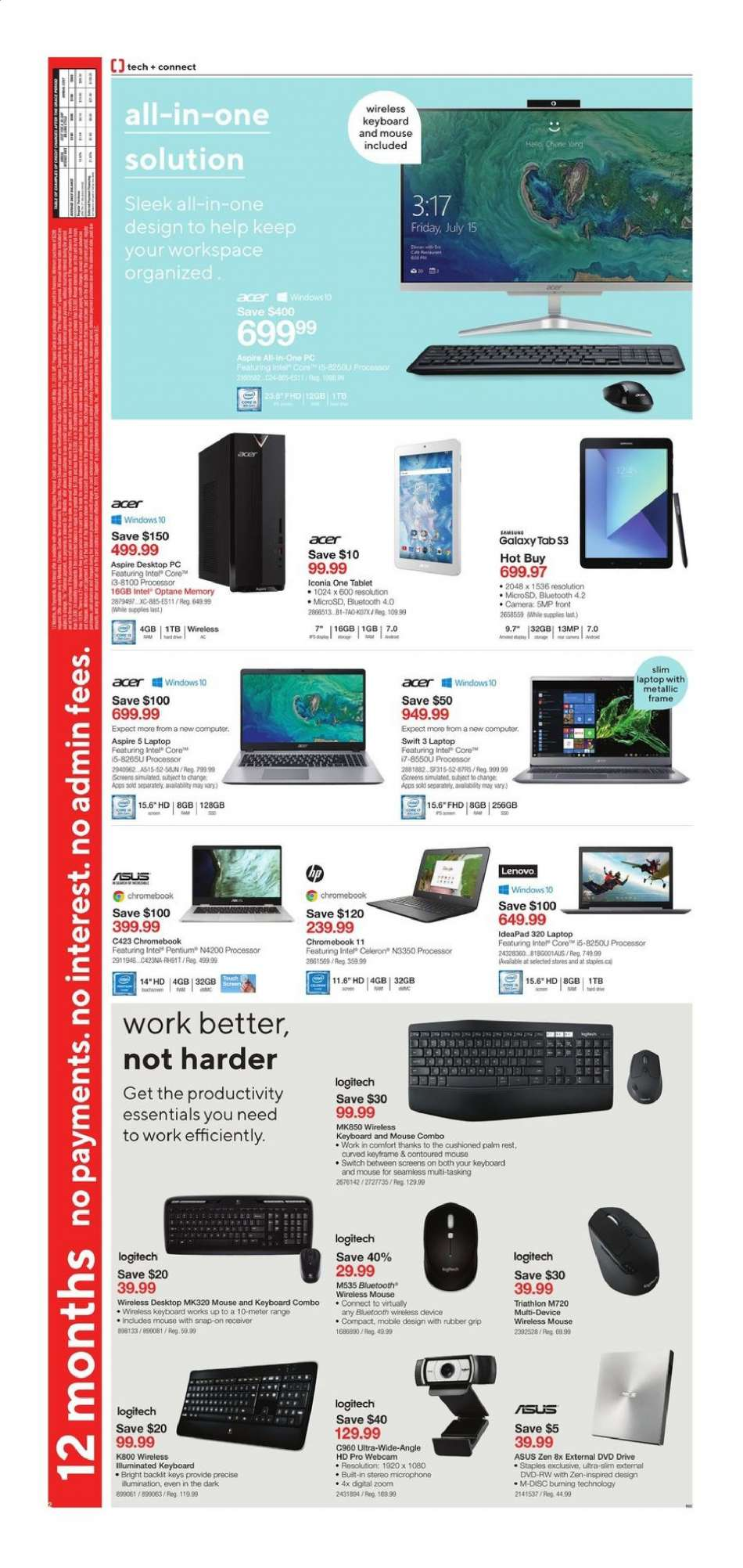 Current Staples flyer May 01, 2019 - May 07, 2019 | Ca-flyers com