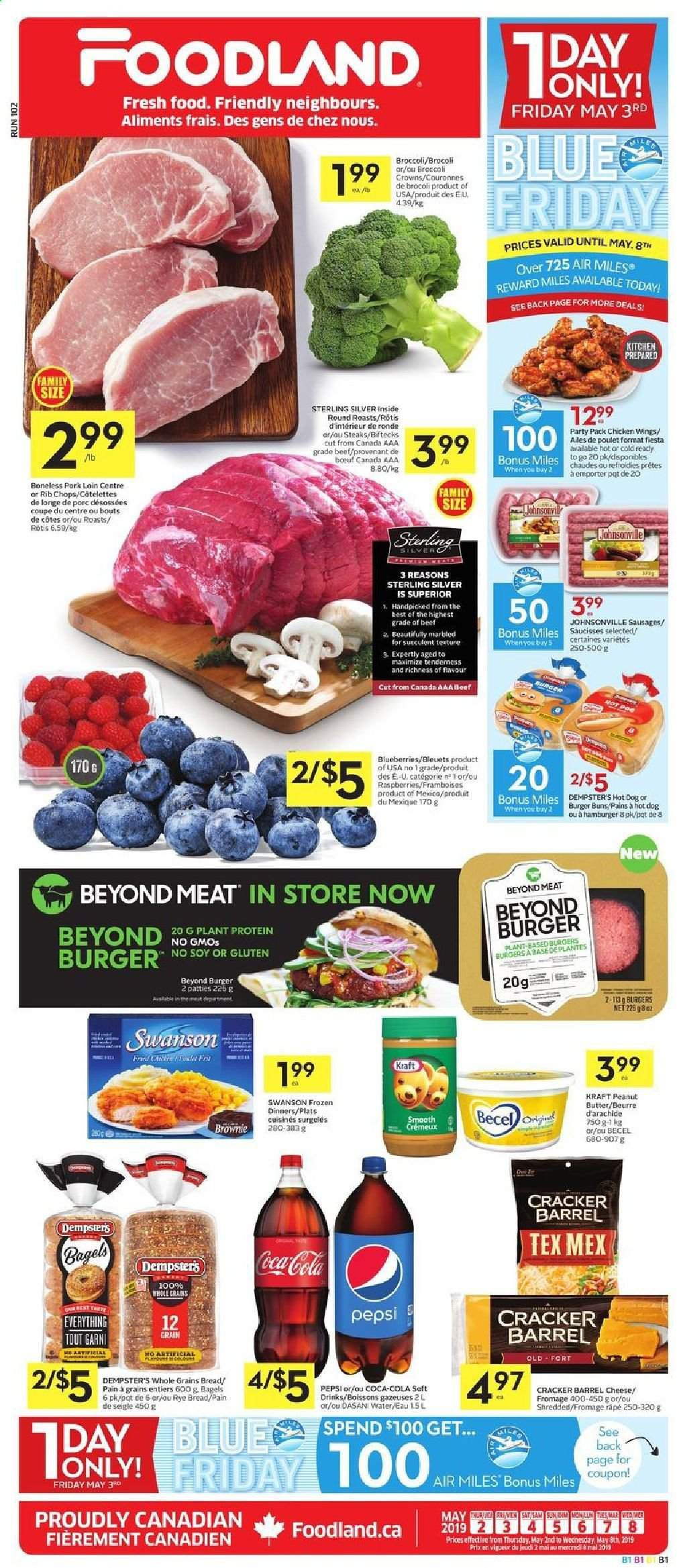 Foodland Flyer  - May 02, 2019 - May 08, 2019. Page 1.