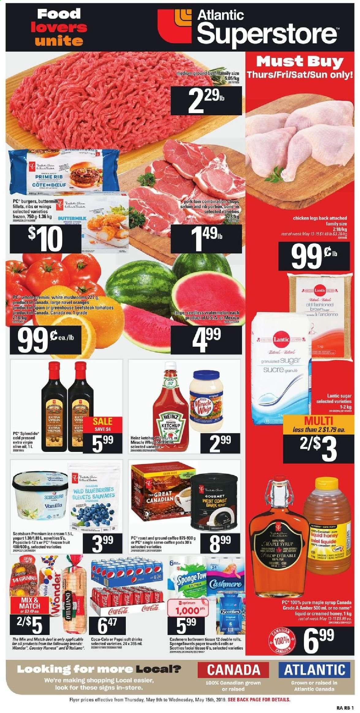 Atlantic Superstore Flyer  - May 09, 2019 - May 15, 2019. Page 1.