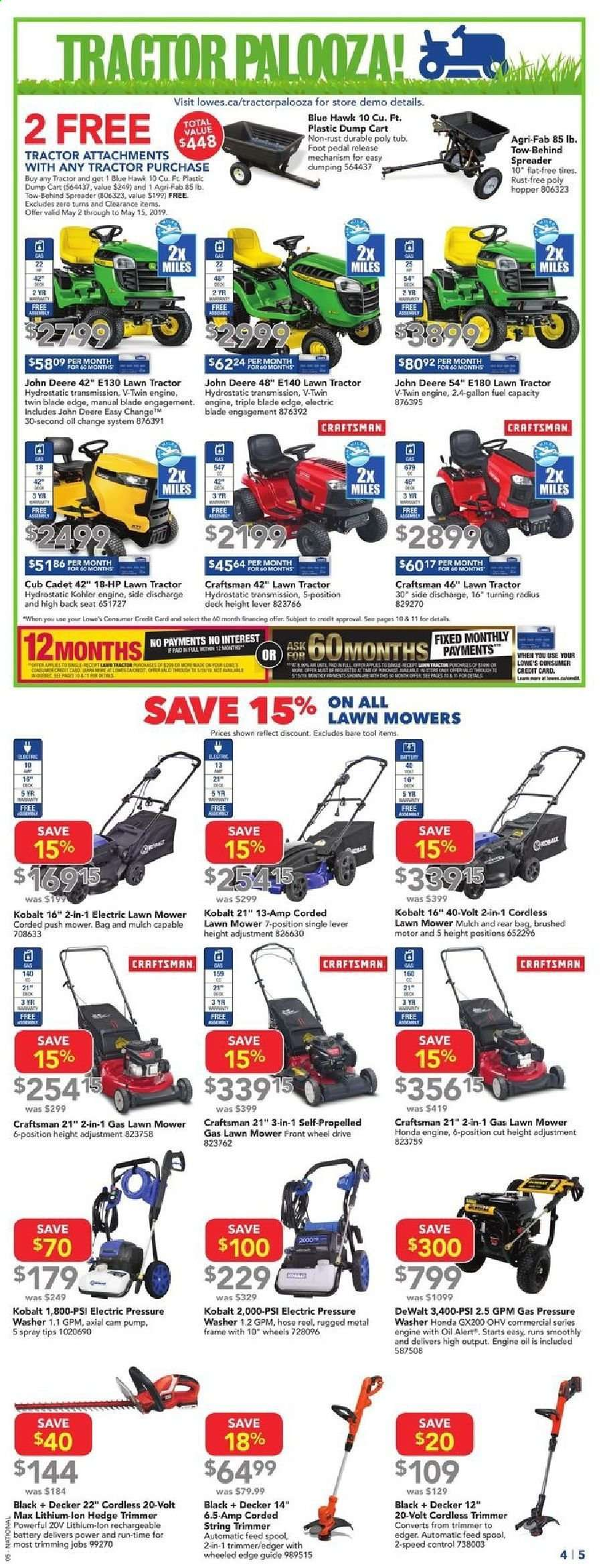 Current Lowe's flyer May 09, 2019 - May 15, 2019   Ca-flyers com