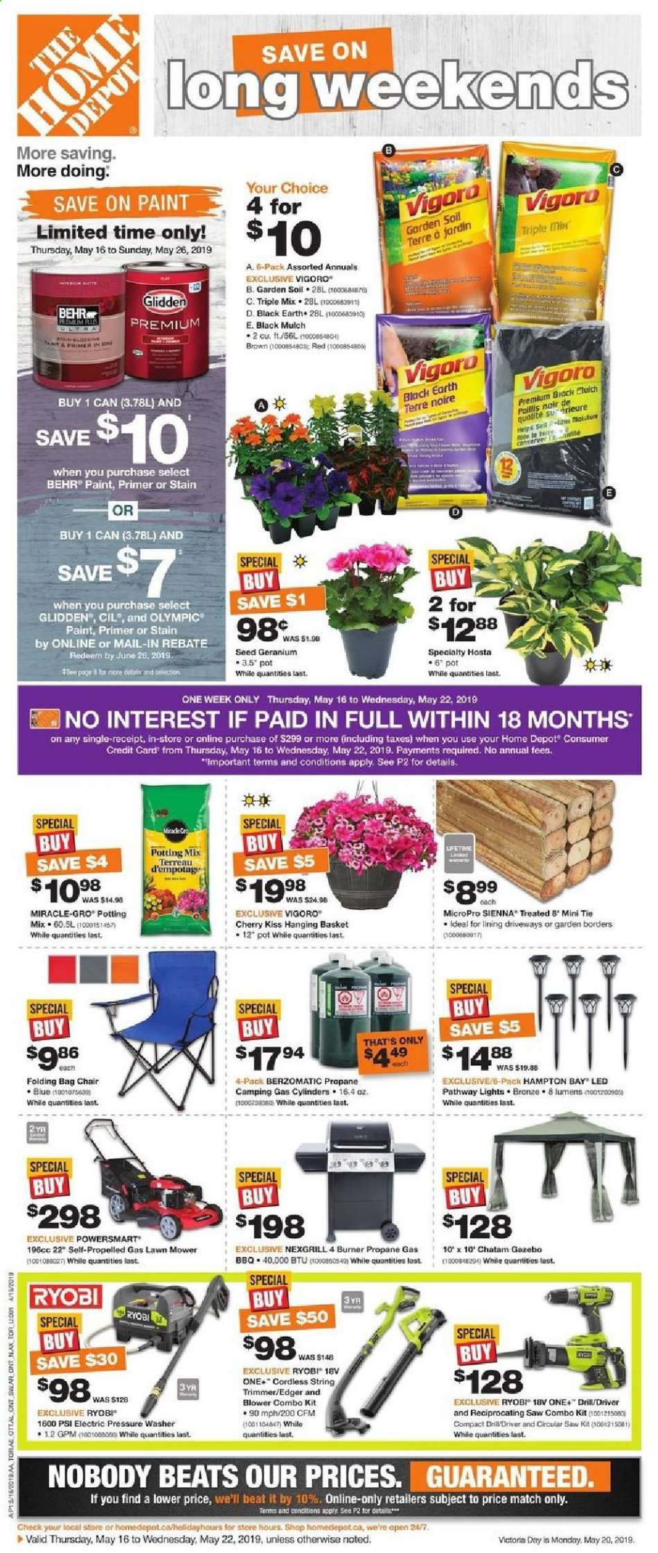 Current The Home Depot flyer May 16, 2019 - May 22, 2019