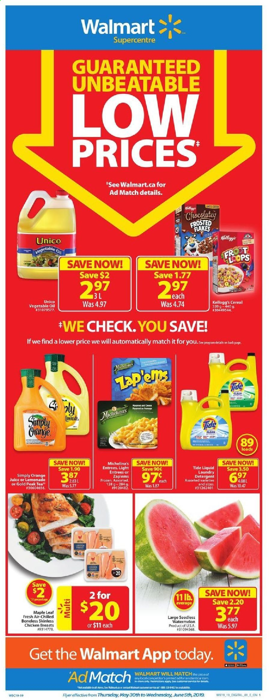 Walmart Flyer  - May 30, 2019 - June 05, 2019. Page 1.