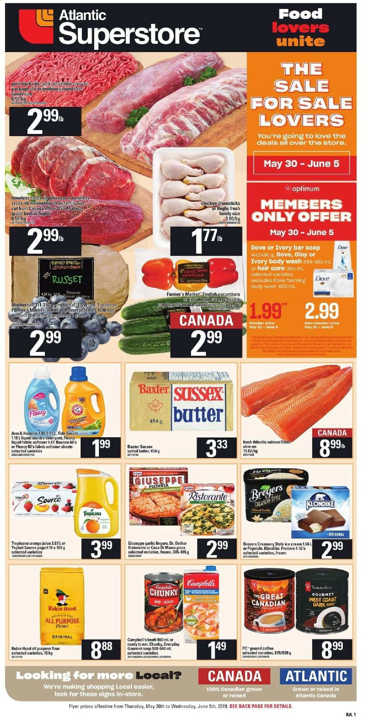 Atlantic Superstore Flyer  - May 30, 2019 - June 05, 2019. Page 1.