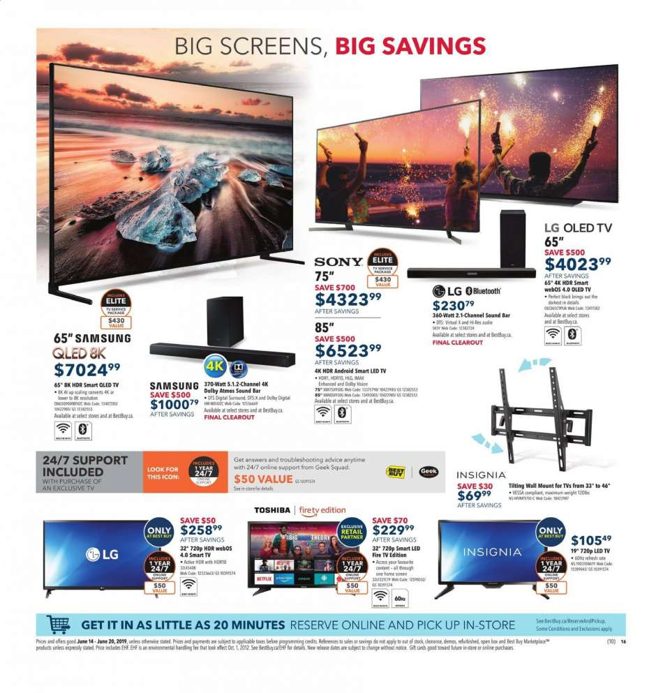 Current Best Buy flyer June 14, 2019 - June 20, 2019 | Ca