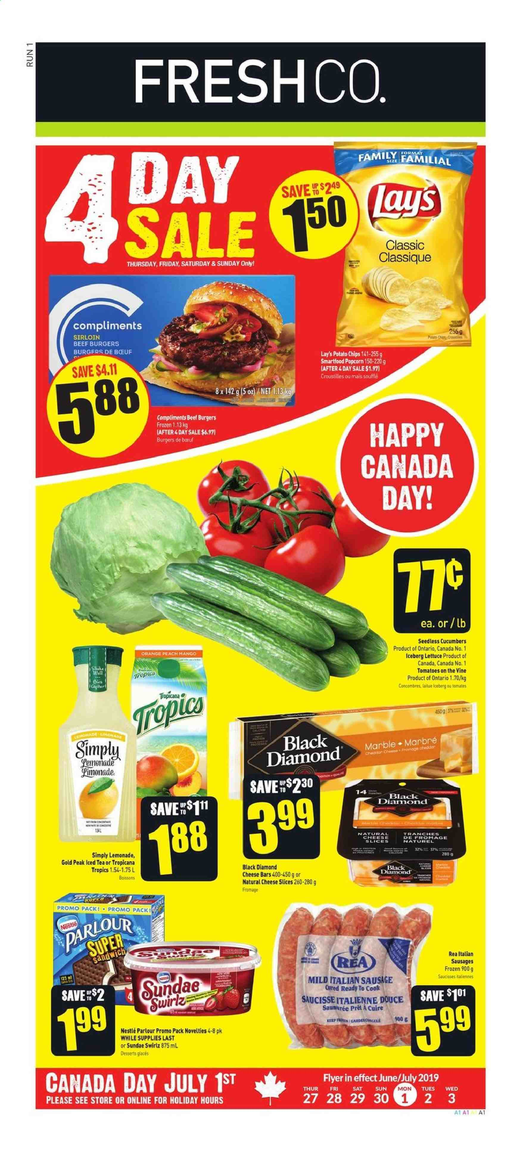 FreshCo. Flyer  - June 27, 2019 - July 03, 2019. Page 1.