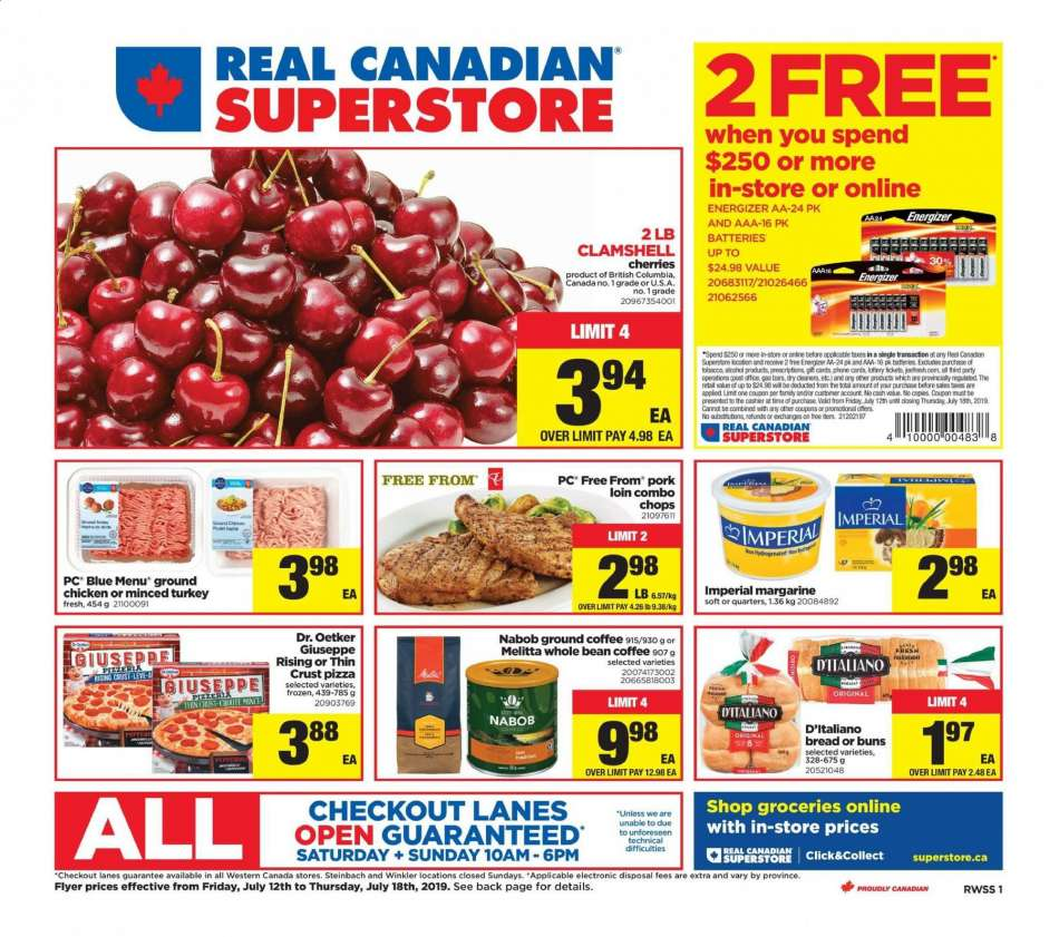 Current Real Canadian Superstore flyer July 12, 2019 - July