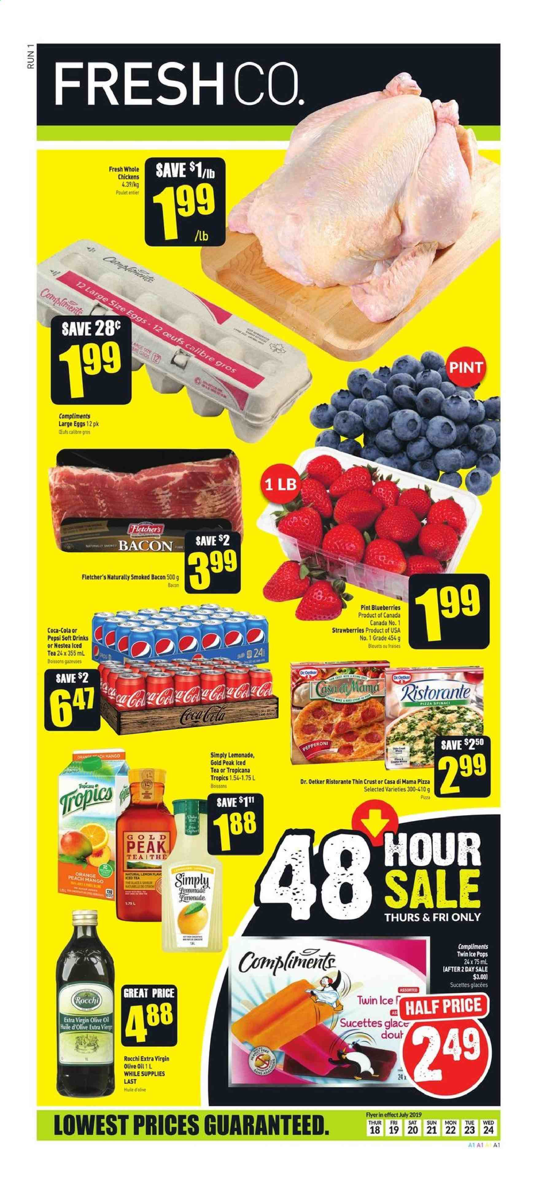 FreshCo. Flyer  - July 18, 2019 - July 24, 2019. Page 1.