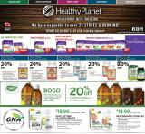 Healthy Planet Flyer - July 11, 2019 - August 14, 2019.