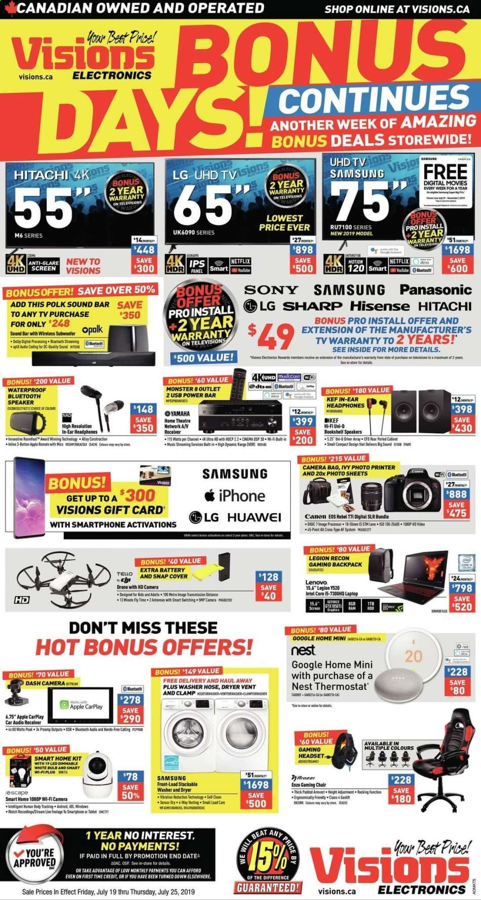 Current Visions Electronics flyer July 19, 2019 - July 25
