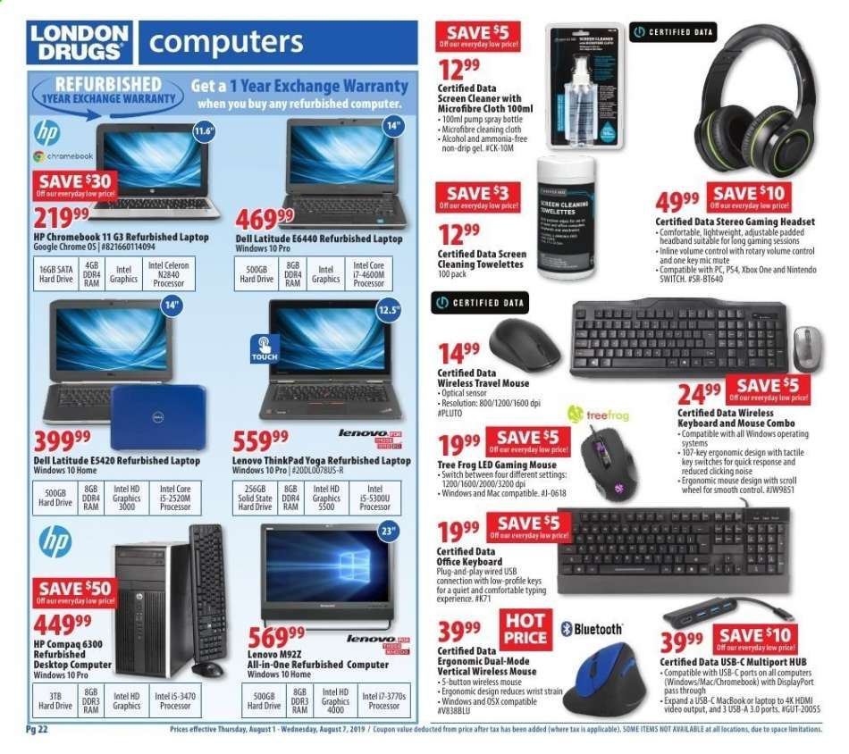 Current London Drugs flyer August 01, 2019 - August 07, 2019