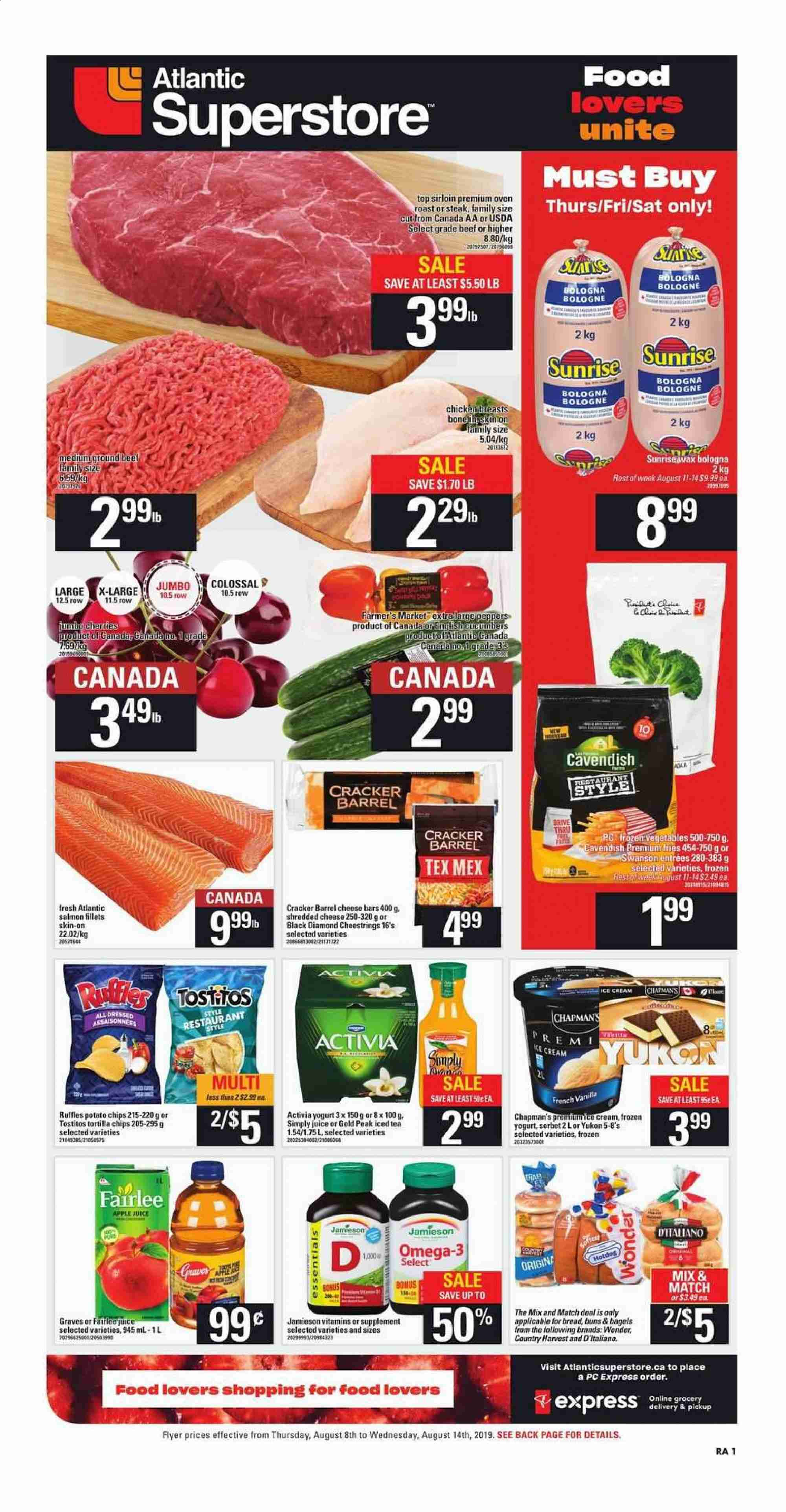 Atlantic Superstore Flyer  - August 08, 2019 - August 14, 2019. Page 1.