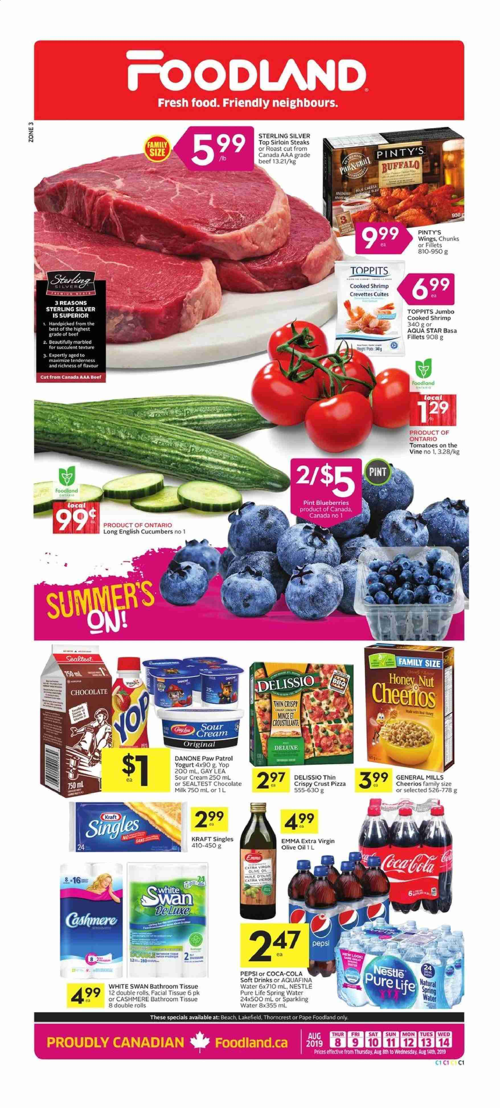 Foodland Flyer  - August 08, 2019 - August 14, 2019. Page 1.