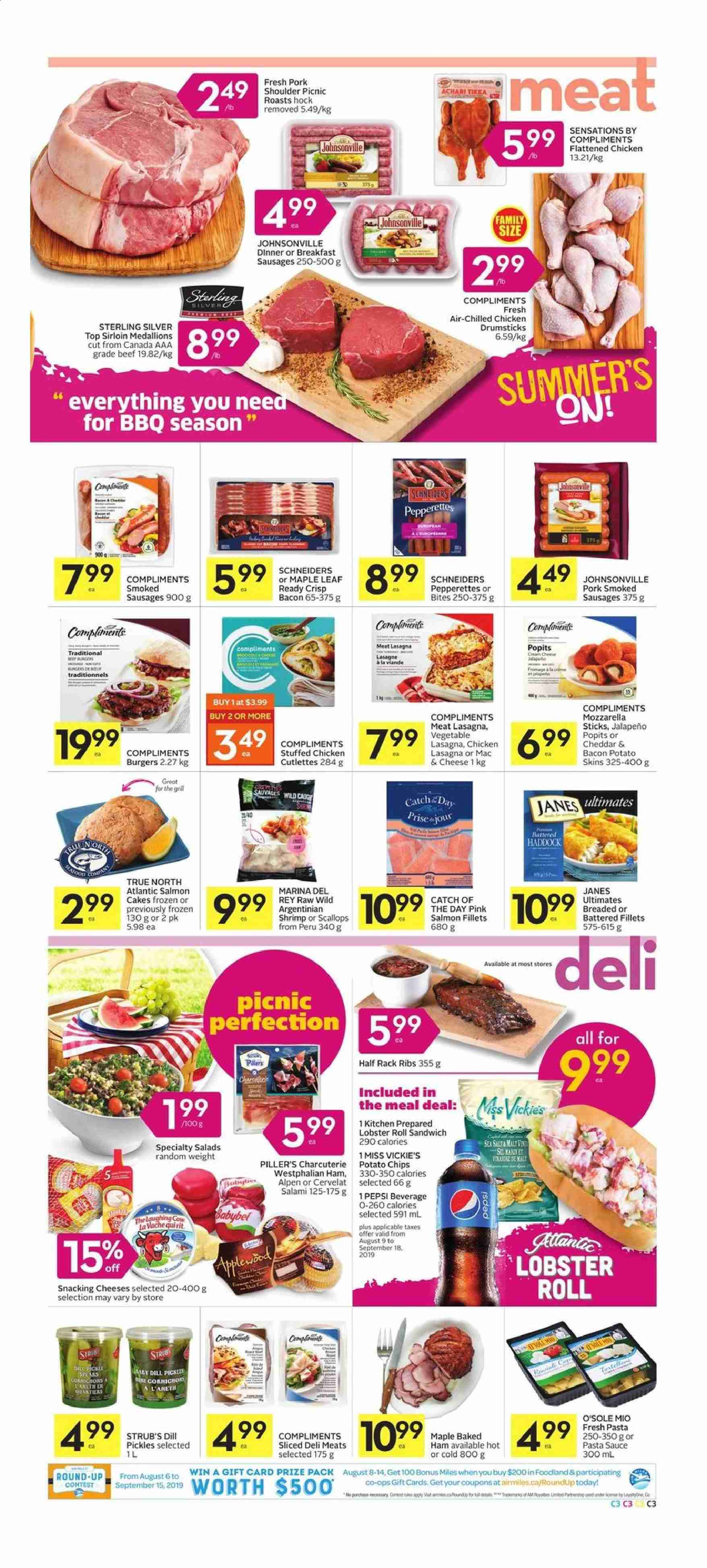 Foodland Flyer  - August 08, 2019 - August 14, 2019. Page 3.