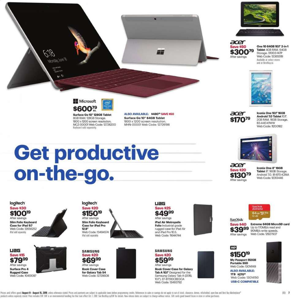 Current Best Buy flyer August 09, 2019 - August 15, 2019