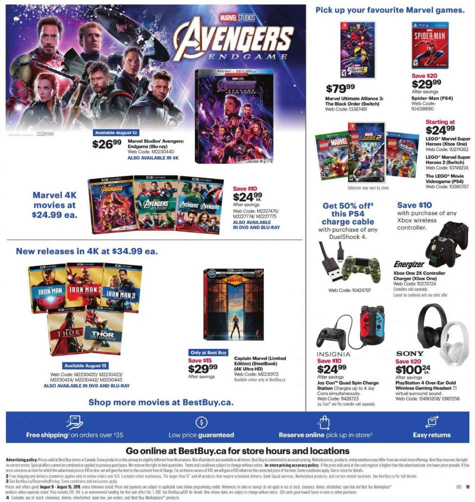 Current Best Buy flyer August 09, 2019 - August 15, 2019 | Ca-flyers com
