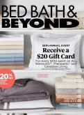 Bed Bath & Beyond Flyer - August 13, 2019 - September 24, 2019.