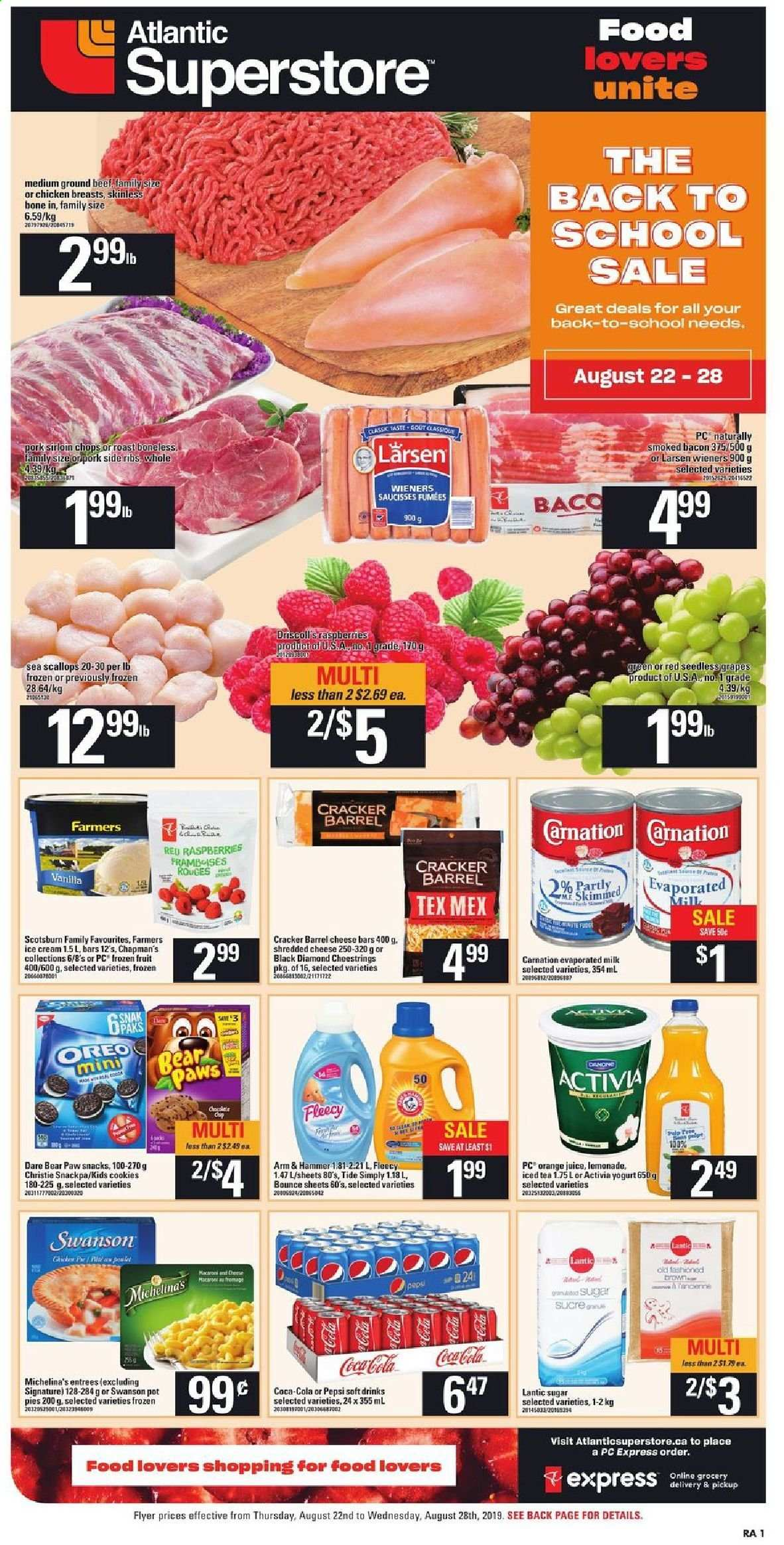 Atlantic Superstore Flyer  - August 22, 2019 - August 28, 2019. Page 1.