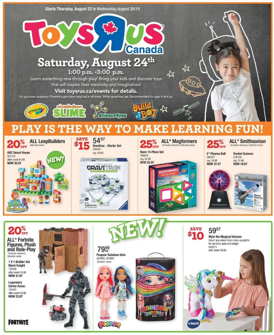 Current Toys''R''Us flyer August 22, 2019 - August 28, 2019