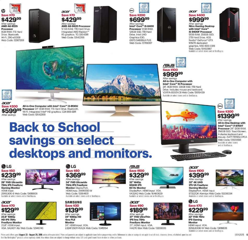 Current Best Buy flyer August 23, 2019 - August 29, 2019