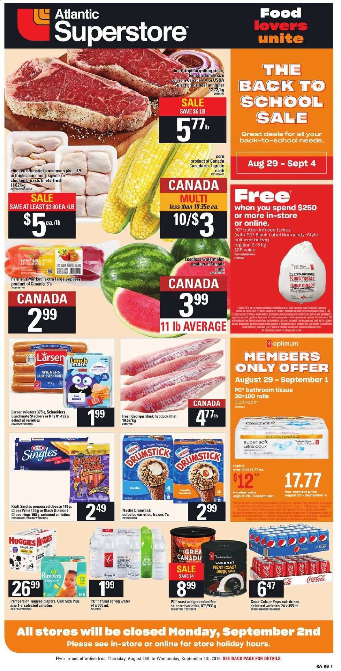 Atlantic Superstore Flyer  - August 29, 2019 - September 04, 2019. Page 1.