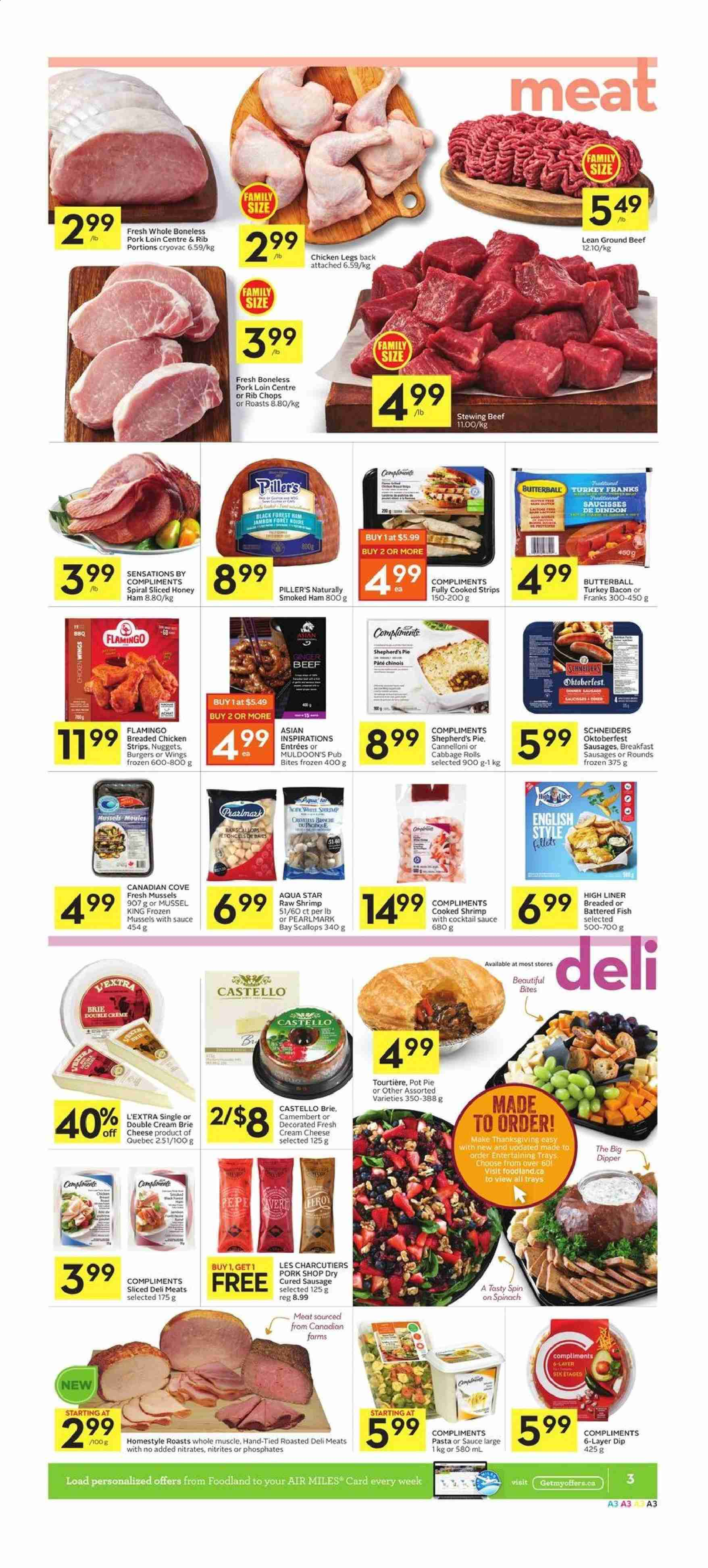 Foodland Flyer  - October 03, 2019 - October 09, 2019. Page 3.