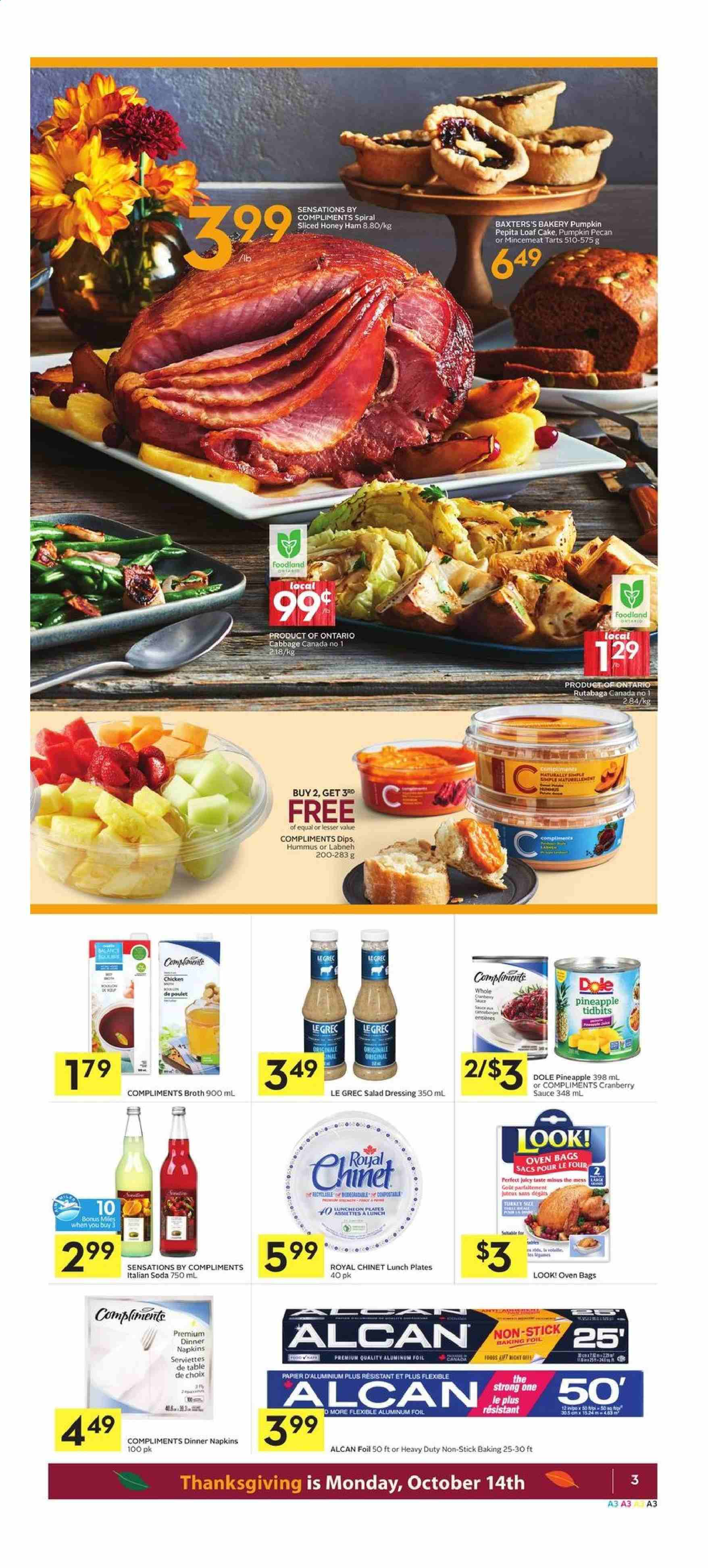 Foodland Flyer  - October 10, 2019 - October 16, 2019. Page 3.