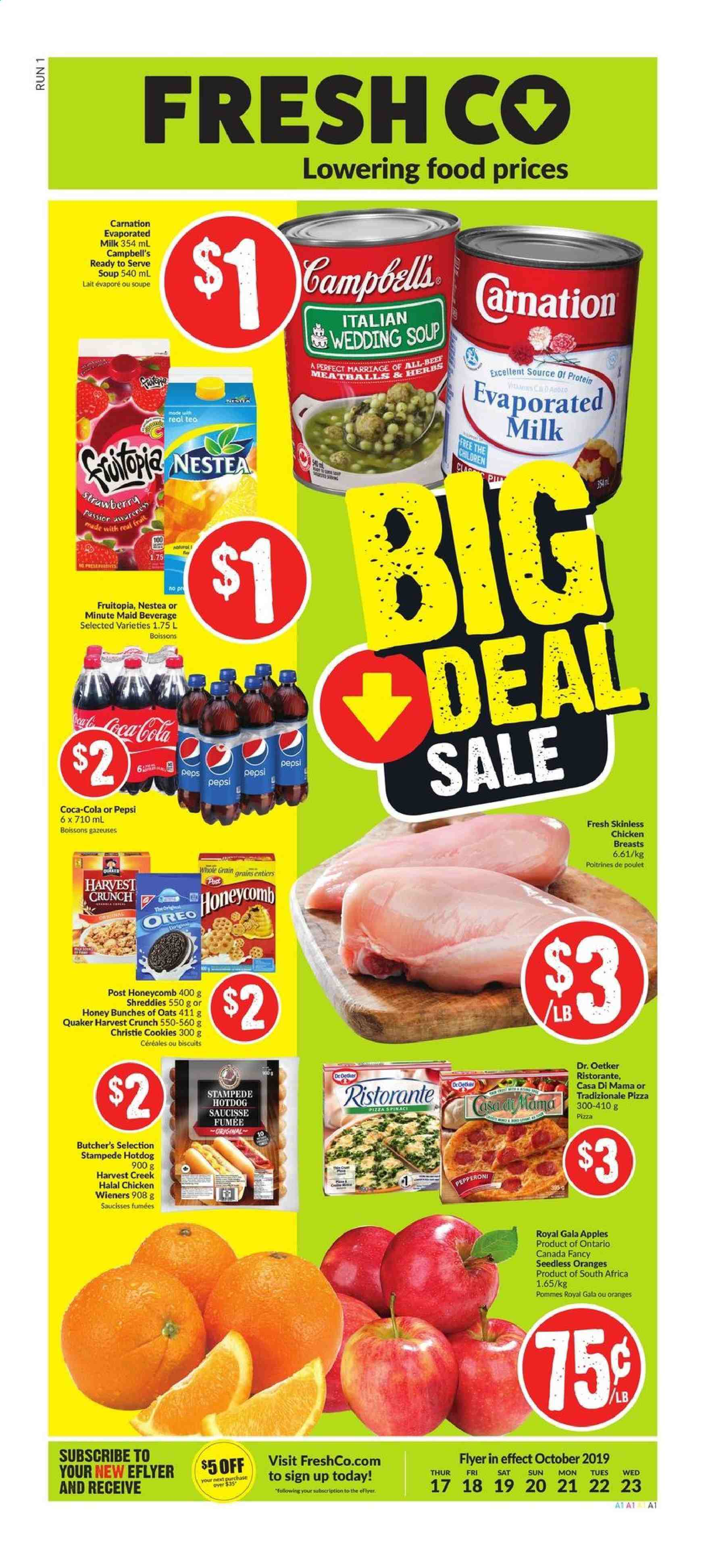 FreshCo. Flyer  - October 17, 2019 - October 23, 2019. Page 1.