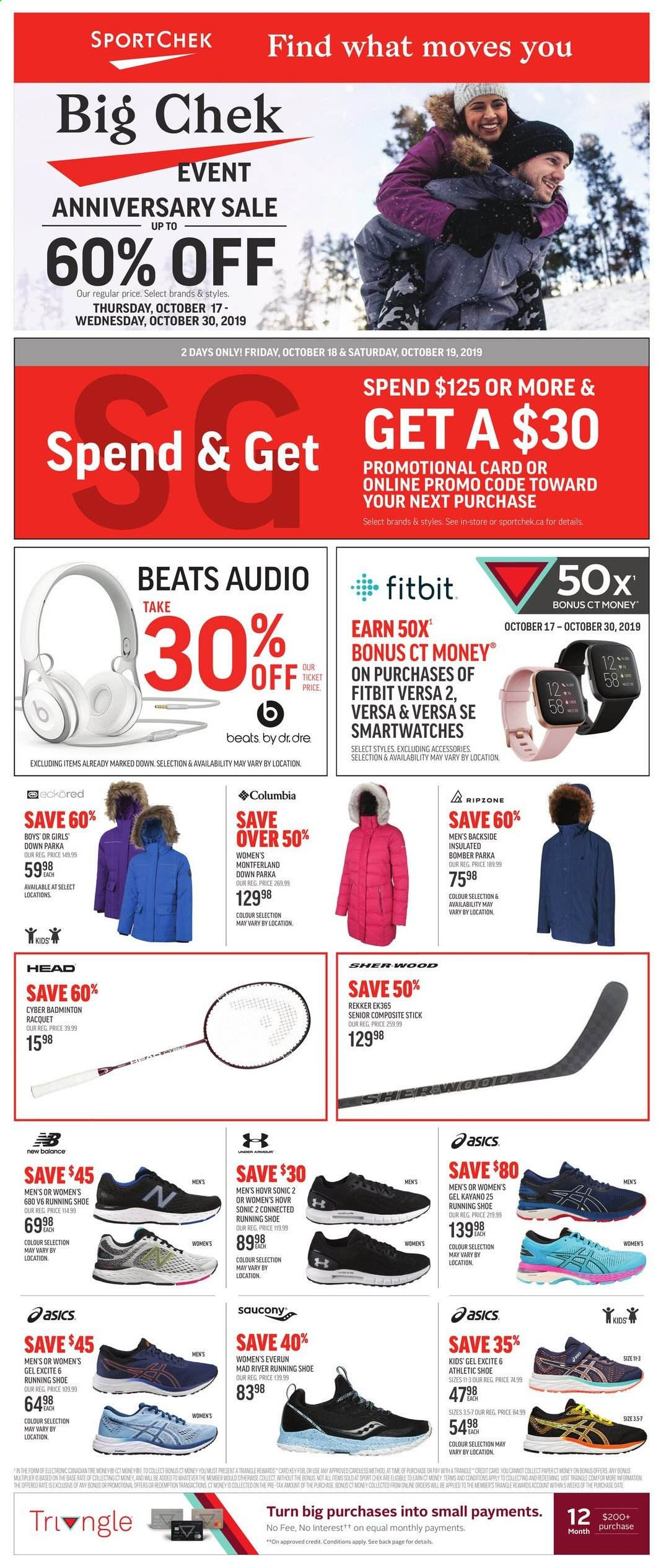 Sport Chek Flyer October 17 2019 October 30 2019 Page 1 Canadian Flyers