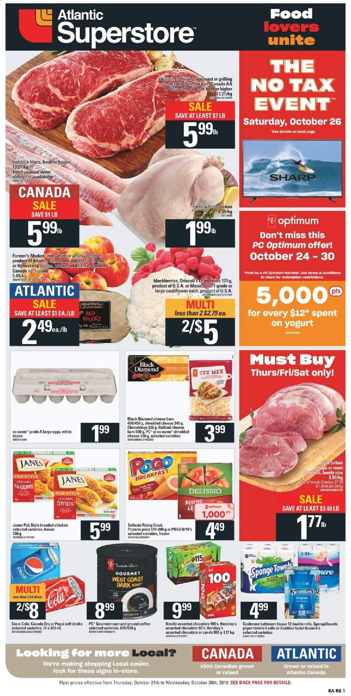 Atlantic Superstore Flyer  - October 24, 2019 - October 30, 2019. Page 1.