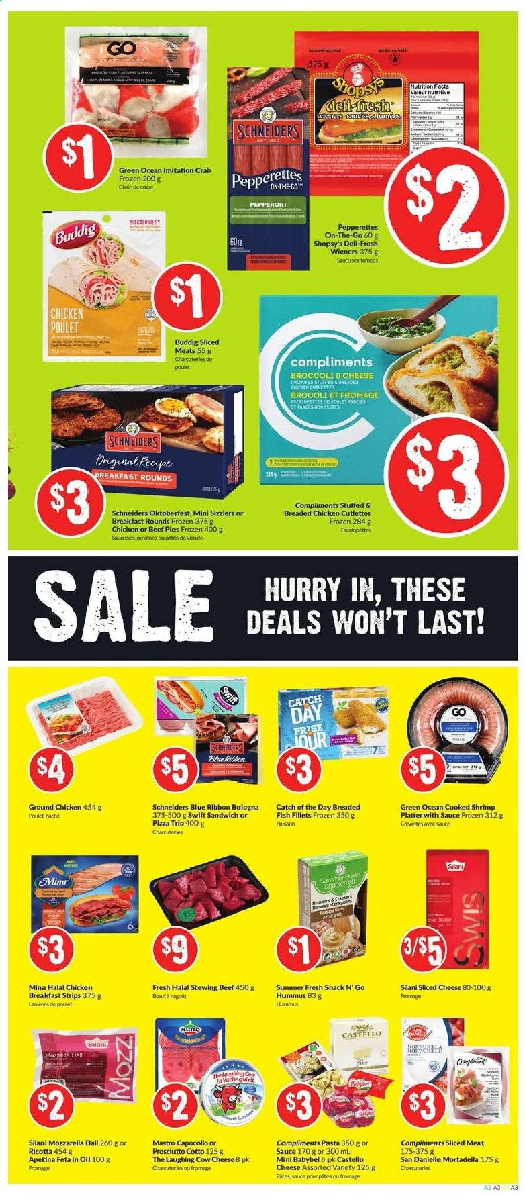FreshCo. Flyer  - October 24, 2019 - October 30, 2019. Page 3.