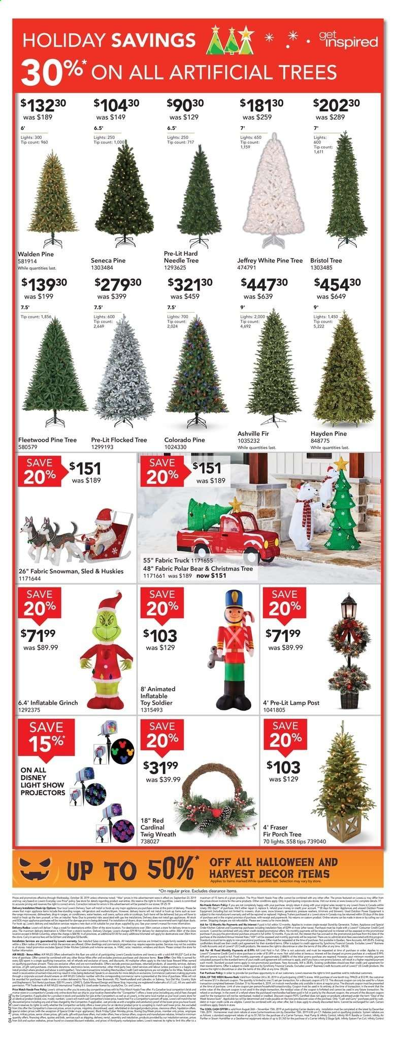 Lowes Christmas Hours.Current Lowe S Flyer October 24 2019 October 30 2019